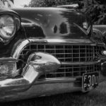 Black and White Challenge Day 3: 1955 Cadillac